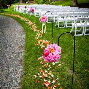 Hanging Floral Aisle Decor