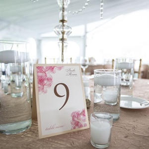 Floral Card Stock Table Number