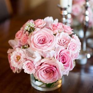 Simple Pink Floral Arrangements