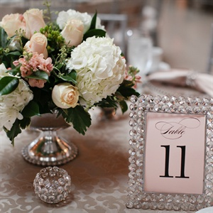 Rhinestone Decorated Table Numbers