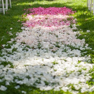 Ombre Floral Ceremony Aisle