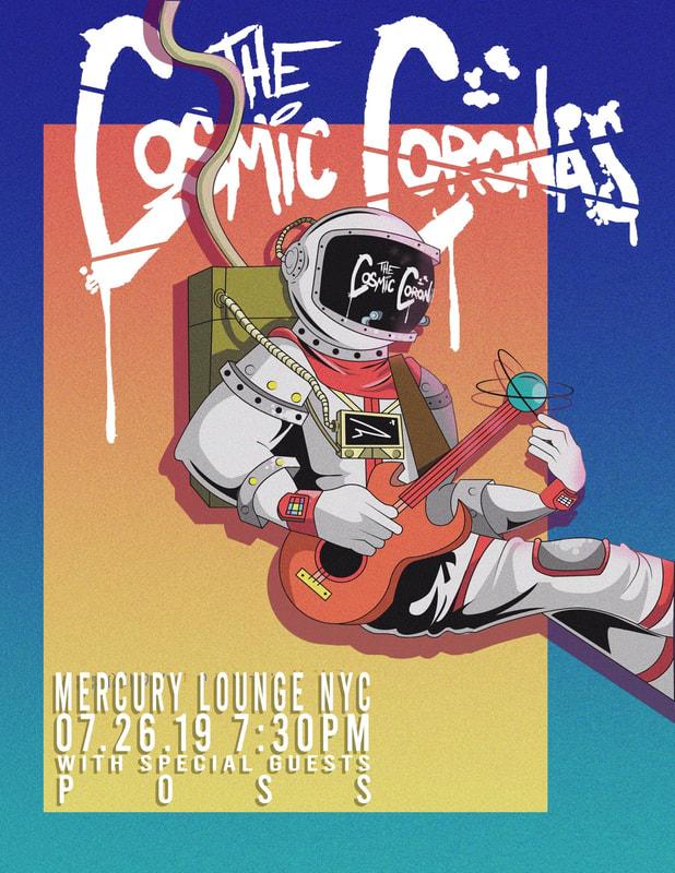 Cosmic Coronas Mercury Lounge 2019 Poster