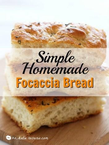 simple homemade focaccia bread
