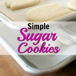 How to Make Simple Sugar Cookies: Sugar cookies are my favorite! They are so simple and delicious its a classic cookie! When I made this recipe I was so surprised how easy the dough is to make. I also made this recipe with kids and they loved it especially the vanilla bean flavor! Perfect for the holidays too! Pinning for later!