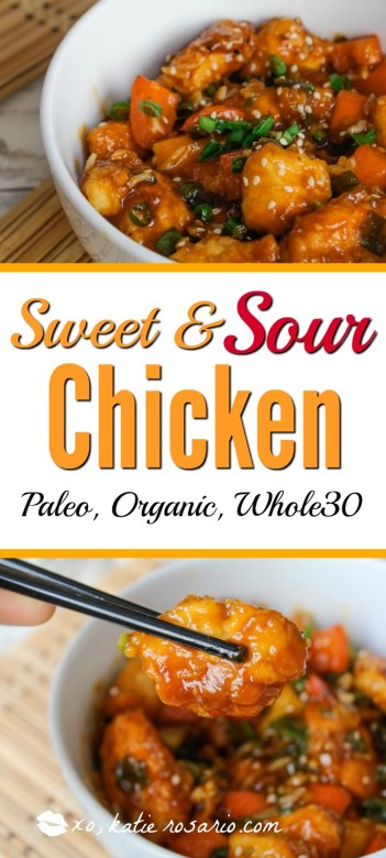 paleo whole 30 organic sweet and sour chicken recipe