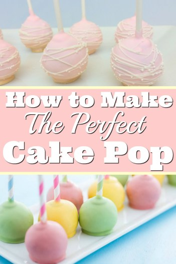 How to make the perfect cake pops easy beginner tutorial. How to Make Cake Pops: I love this guide! It is so easy to learn from a professional baker and get the top tips to achieve perfect cake pops. Searching for an easy cake pop recipe! Stop looking and read this step by step guide. It really is so easy to make beautiful cake pops. Seriously the best! Pinning for later!