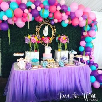 Vibrant Unicorn Dessert Bar Found From Karas Party Ideas