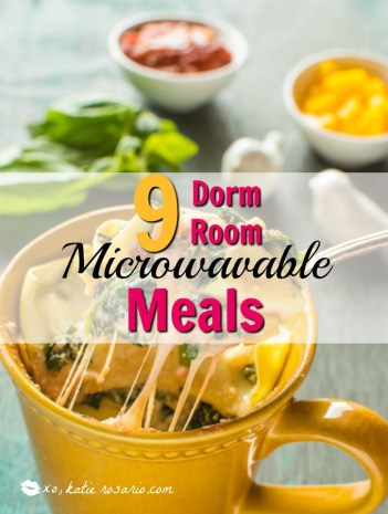 dorm room meals