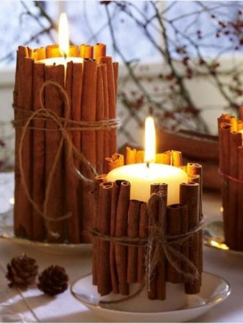 9 ways to make your home smell amazing using a large candle and dried cinnamon sticks