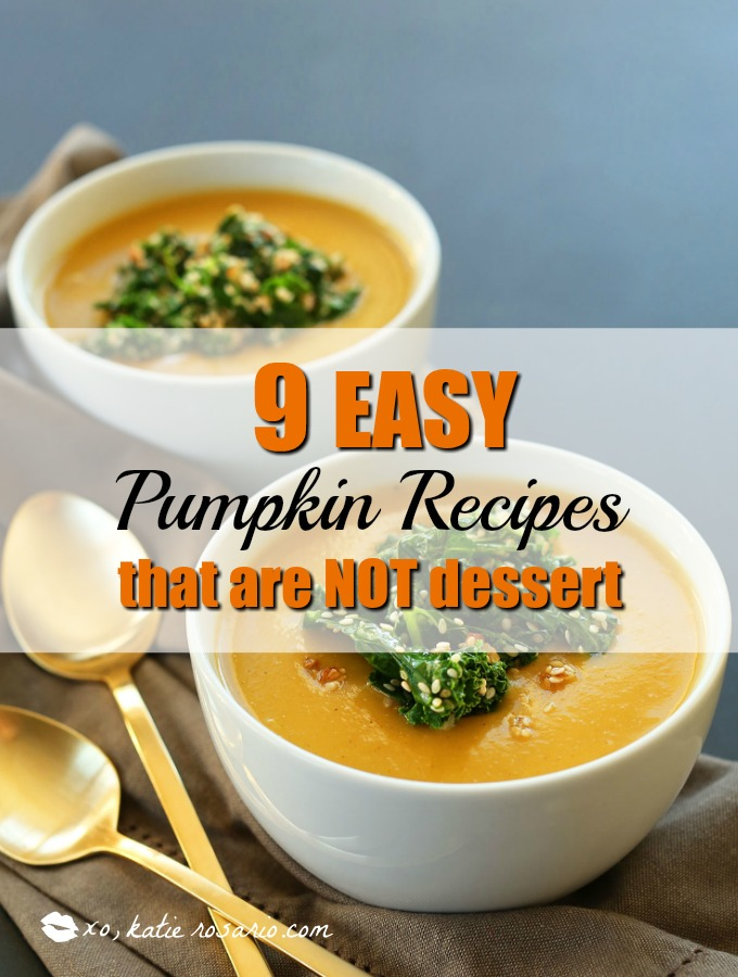 9 Salty & Savory Pumpkin Recipes that aren't Desserts: Fall is here and pumpkin is everywhere! I love it! I always forget that you can cook dishes with pumpkin that aren't desserts or overly sweet. Making pumpkin the star of the dinner is so fast and easy. I like the tip to use pumpkin puree and mix it into an Alfredo sauce then making a delicious pizza. And OMG! Make mac and cheese with pumpkin it's the boom! Must try!