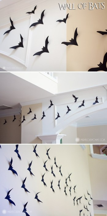 diy decor for halloween wall bat art decorations