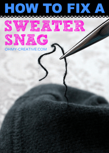 diy fix the snag in your sweater