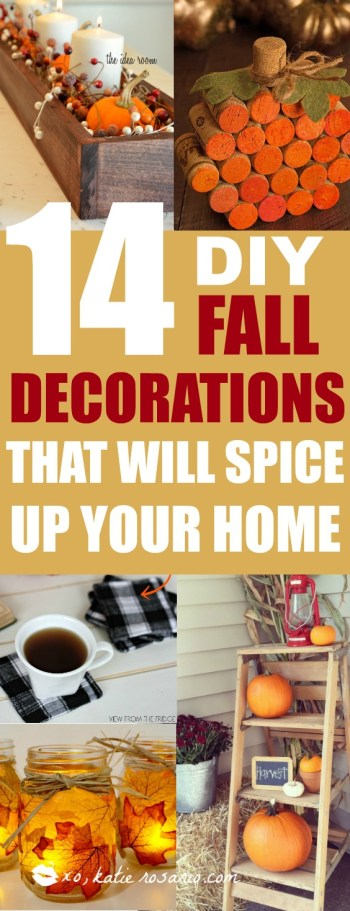 DIY fall decorations that will spice up your home