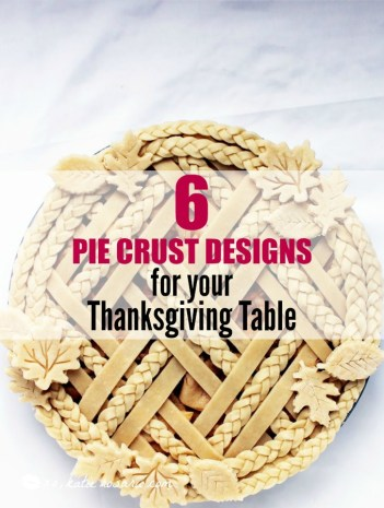 6 Brilliant Pie Crust Designs: I love these designs! I love making pies but sometimes they are really hard to make and I feel like I am making the same classic traditional pies every year! I needed some much inspiration for crust designs and a good recipe. This is a must see to for home bakers this thanksgiving! Pinning for later!