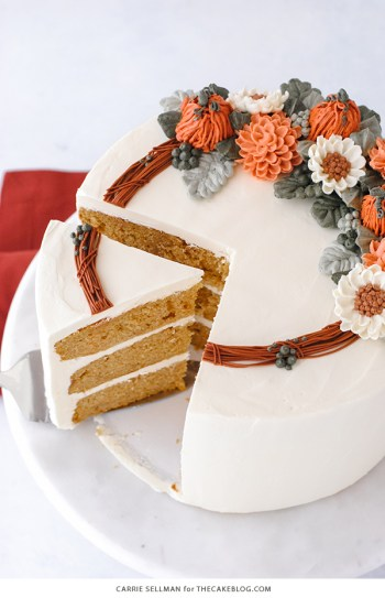 Pumpkin spice cake. Make this recipe and other pumpkin desserts this fall.