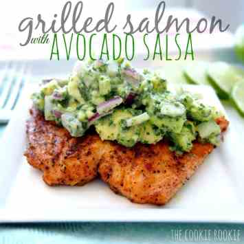 Whole30 Grilled Salmon with Avocado Salsa. Easy and fast weeknight meals for busy nights. This is so perfect for busy weeknights and still stay on a Whole30 lifestyle! I love Whole30! Its easy and so fast to make these meals for you and your family and still keep on your diet and lose weight! Just because you are busy doesn't mean you can't eat well like Whole30! Saving for later!