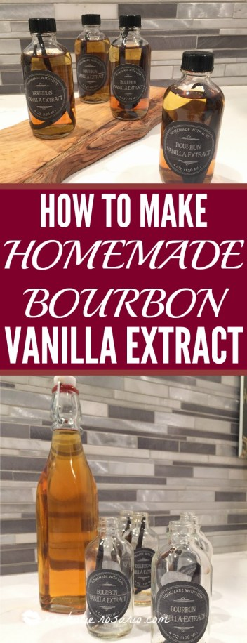 How to Make Homemade Bourbon Vanilla Extract: I had no idea it was so simple to make vanilla extract at home. I love it! It's so obvious since I put vanilla extract into every baked good like cakes and cookies. One this is going to save me a ton of money since I never have to buy it in the store again. Two DIY homemade vanilla extract totally makes my baking smell and taste incredible. This is a must have for any baker! Pinning for later!