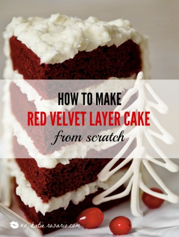 How to Make Red Velvet Layer Cake and Cupcakes from Scratch: Red velvet is one of the most popular cake flavors and this recipe is seriously good! My favorite part is the hint of cinnamon that really makes this cake its own. Making red velvet cake and cupcakes from scratch is so easy especially with this recipe! I love it! It's perfect for celebrating any holiday! The bright vibrant color is amazing! For sure pinning for later!