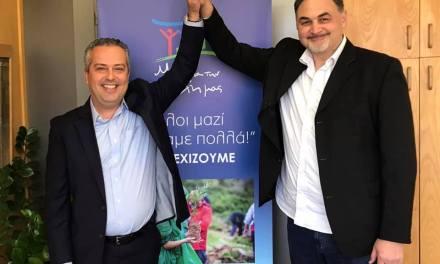 ο Μιχάλης Υφαντής Michalis Ifantis με τον  Ηλίας Αποστολόπουλο