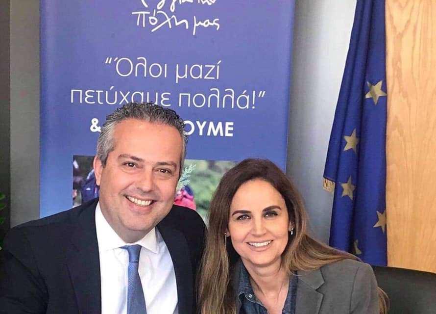 Η Ισμήνη Παραδέλλη με τον Ηλία Αποστολόπουλο