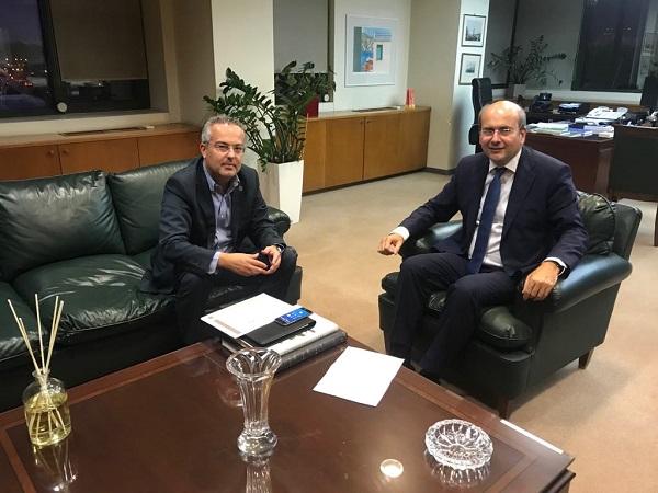 Συνάντηση Δημάρχου Παπάγου – Χολαργού με τον Υπουργό Περιβάλλοντος και Ενέργειας Κωστή Χατζηδάκη