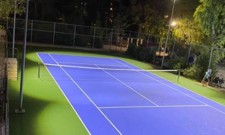 Αναβαθμισμένο το γήπεδο τένις στο Μεγάλο Πάρκο Παπάγου