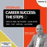 Διαδικτυακό σεμινάριο με θέμα: «Επιτυχημένη Καριέρα: Τα βήματα»