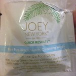 Joey New York Quick Results Bye Bye Blackheads Wipes Review