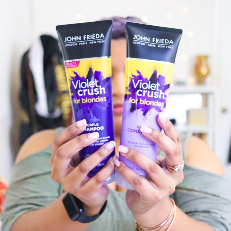 Tone Brassy Hair with Purple Shampoo