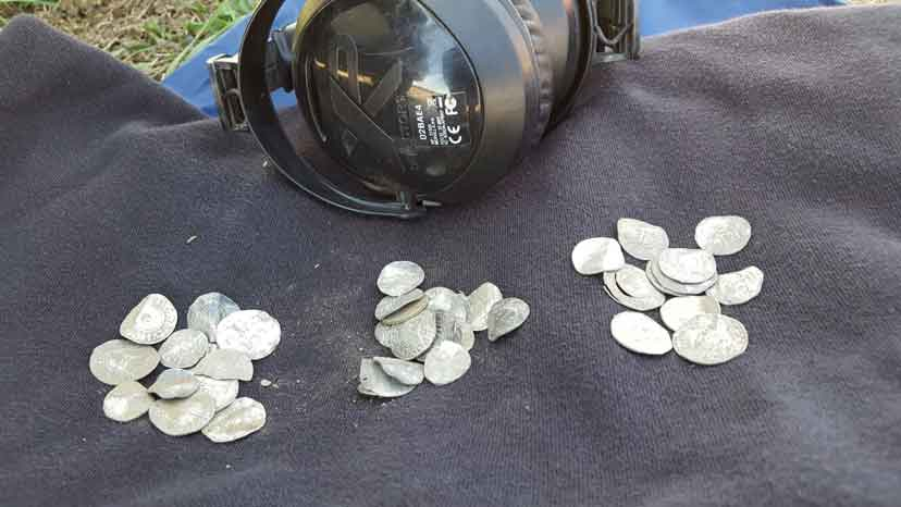 Viking coins found with an XP Deus metal detector