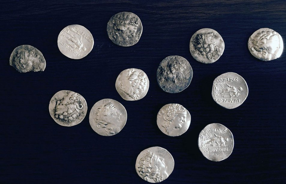 Ancient coins found with an XP Deus metal detector