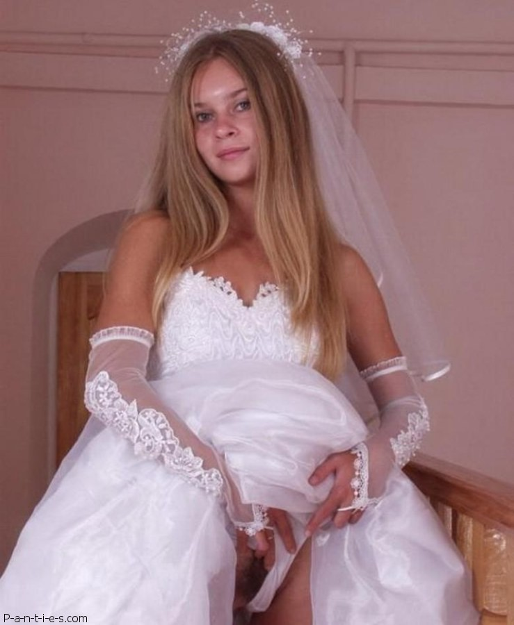 Sexy Bride Panties Upskirt Images