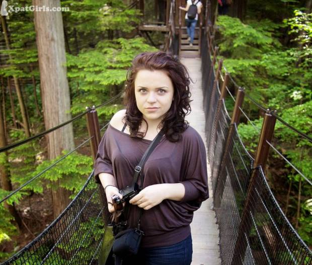 At Capilano Suspension Bridge, one of the most popular tourist attractions in Vancouver