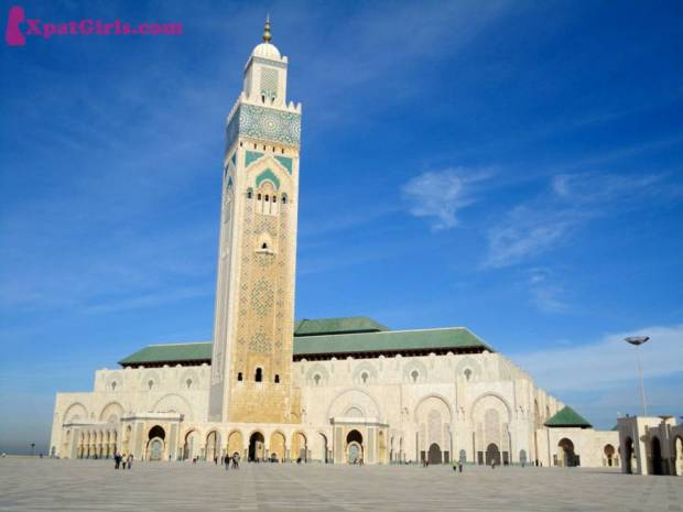 Hassan II Mosque in Casablanca. One of the largest mosques in the world