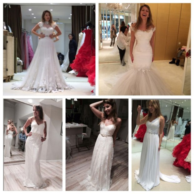 Trying out wedding dresses in China and Israel, so much fun!