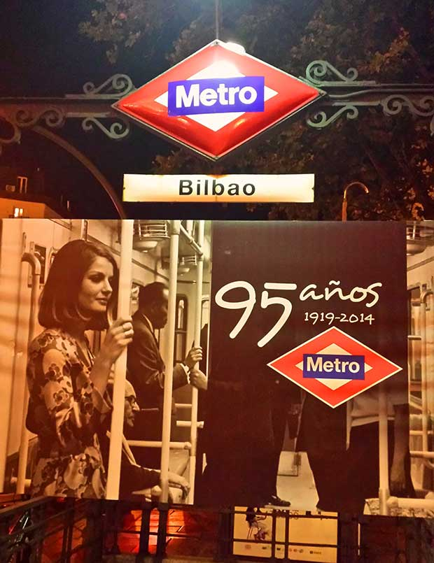 Bilbao Metro Station – right in the heart of Madrid
