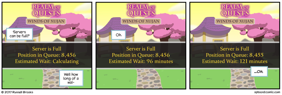 A watched queue never moves.