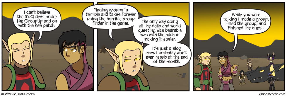 """""""And this group? We're going to do MORE THAN ONE QUEST TOGETHER."""""""