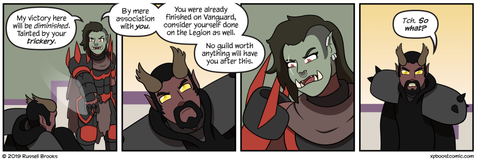 """Vedrana's biting her lip really hard to not interrupt at the bit about Veldaz's """"victory""""."""