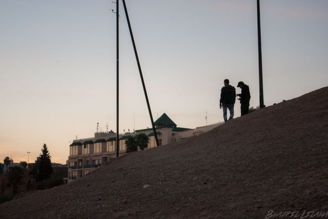 dos amigos en Fez, Marruecos