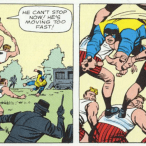 This actually happens in X-Men #3, because the Silver Age.