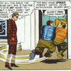 Two for the price of one: Cyclops angstily humblebragging, and the Ubiquitous Plaid Suit! (X-Men #3)