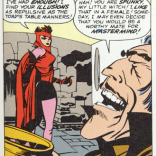 Mastermind's bookshelf is nothing but Ayn Rand and Pickup Artist handbooks. (From X-Men #4)