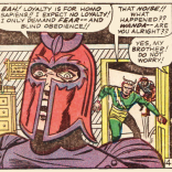 Magneto is not making a very good case for mutant rule. (X-Men #7)