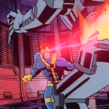 We really just never get tired of Cyclops blowing up robots.