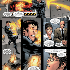 Gabriel gets picked up by Dr. Moira MacTaggert—Professor X's ex—and becomes one of her group of teen mutants in training, under the code name Kid Vulcan. X consults—and, in the process, pieces together Gabriel's history but doesn't tell anyone, in keeping with a long tradition of lying to Scott about the existence of his living relatives. Professor X is a dick.