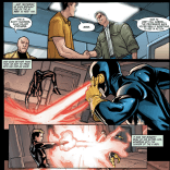 To confirm his theory, X brings Scott out to train with Gabriel for a day—but still doesn't tell either of them that they might be brothers. (Gabriel's powers, incidentally, have to do with energy manipulation and redirection, which his how he can do that with Scott's eye beams.)