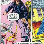 Rick Redfern and Joan Caucus of Doonesbury cameo in X-Men #142, to our eternal delight.