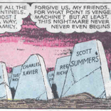 Gravestone standards have slipped somewhat in this future.
