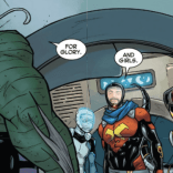 Key party in Shi'ar space!. (Cyclops #1)